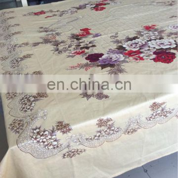 Popular yellow T/C or cotton printed flat bed sheet at much cheaper price