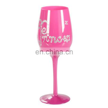 OEM Pink/Gold plated glass Moet & Chandon goblet glass