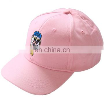Cheap Fashion Manufacture Custom Promotion Pink Cotton Baseball Cap