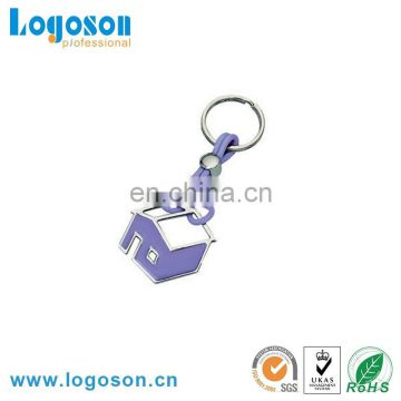 Wholesale promotional logo engraved metal house keychain