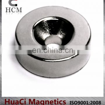 N45 strong permanent countersink ndfeb magnet
