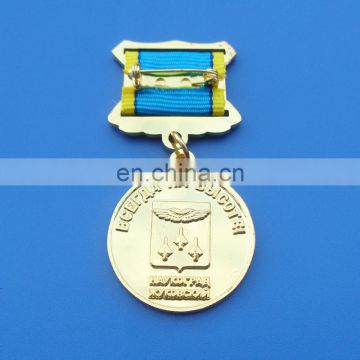 hot sale customized air force memorial souvenir gifts honor gold metal plate 3D metal medal