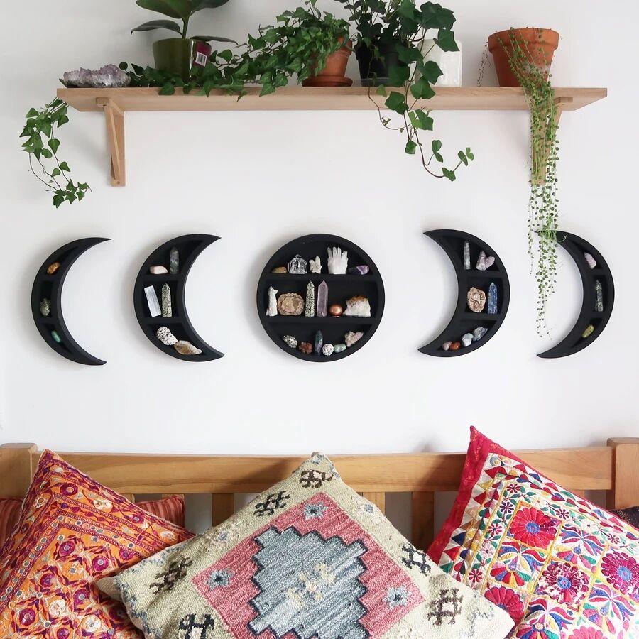 5pcs moon phase sets wooden shelf from China supplier ORIGINAL MOONPHASE SHELVES